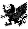 standing heraldic griffin vector image vector image