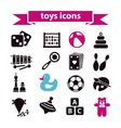 toys icons vector image vector image