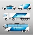 Transport Advertisement Design vector image vector image
