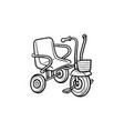 tricycle hand drawn outline doodle icon vector image vector image