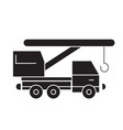 truck crane black concept icon truck crane vector image vector image