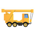truck crane icon cartoon style vector image vector image