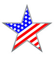 usa star icon symbol vector image vector image