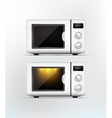 White microwave Isolated vector image