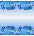 Winter frozen glass background Horizontal border vector image vector image