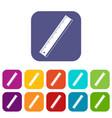 yardstick icons set flat vector image vector image
