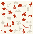 Canadian seamless pattern vector image