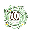eco label original design logo graphic template vector image