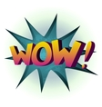 Wow colored comic book vector image