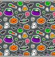 cute seamless halloween background vector image