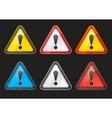set hazard warning attention sign color vector image