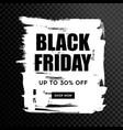 black friday sale black web banner poster sale vector image