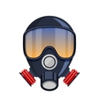 Gas mask stencil isolated over vector image