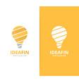 lamp logo combination lightbulb symbol or vector image