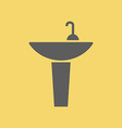 Washbasin sign icon vector image
