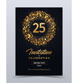 25 years anniversary invitation card template vector image vector image