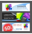 a set of horizontal banners with abstract full vector image vector image