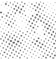 abstract halftone texture with letters vector image