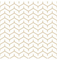 abstract white and gold seamless zigzag pattern vector image