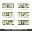 All Dollar Bills Flat vector image vector image