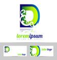 Alphabet letter D logo