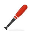 aluminum baseball bat vector image vector image