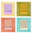 assembly flat shading style icon checklist vector image vector image