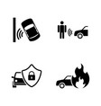 auto safety simple related icons vector image vector image