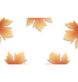 autumn leaves background fall maple leaves frame vector image vector image