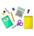 back to school chancellery object office vector image vector image