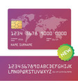 banking business plastic card and payment vector image