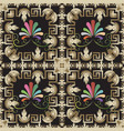 baroque style floral greek seamless pattern vector image vector image