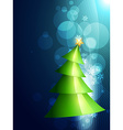 beautiful christmas tree vector image
