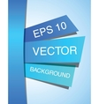 Blue abstract paper design template EPS 10 vector image vector image