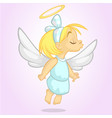 cartoon cute happy christmas angel vector image vector image