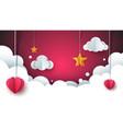 cartoon love landscape cloud heart star vector image vector image