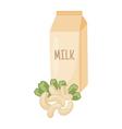 cashew milk vector image vector image