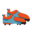 cleats football soccer shoes icon image vector image