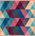cloth triangle seamless pattern vector image vector image