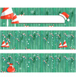 collection christmas banner new year design vector image