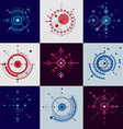Collection of Bauhaus retro wallpapers art vector image vector image