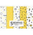 collection of swatches memphis patterns - seamless vector image vector image