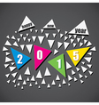 colorful new year 2015 greeting design vector image vector image