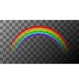 colorful rainbow on transparent background vector image vector image
