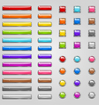 Colorful web buttons vector image vector image
