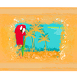 Colourful parrot vector image vector image