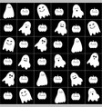 cute cartoon ghost pattern vector image vector image