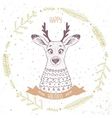 Deer cute character vector image