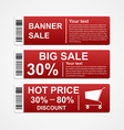 Discount sale banners vector image