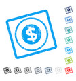 finance icon rubber watermark vector image vector image